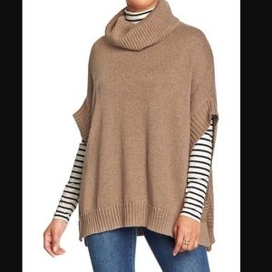 Old Navy Cowl Neck Camel Color Knit Sweater Poncho